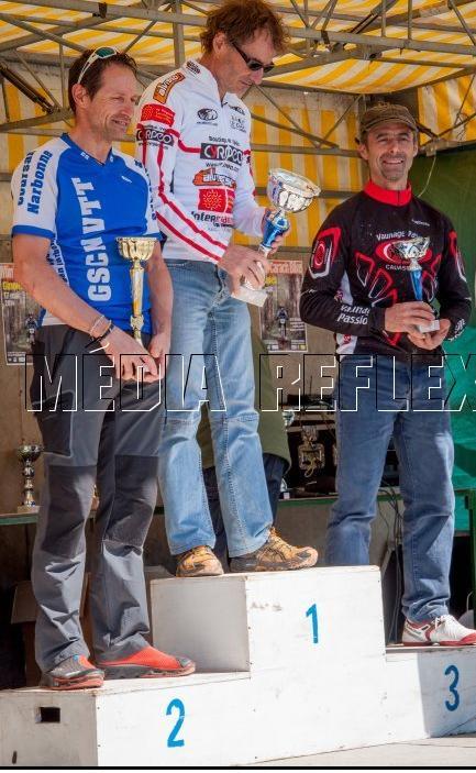 Le podium Master à Quillan XC